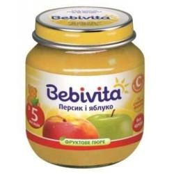 Пюре Bebivita Персик и яблоко (с 5 мес.) 100 гр.