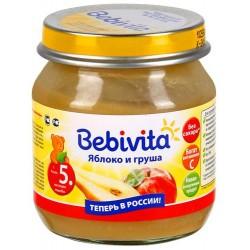 Пюре Bebivita Яблоко и груша (с 5 мес.) 100 гр.