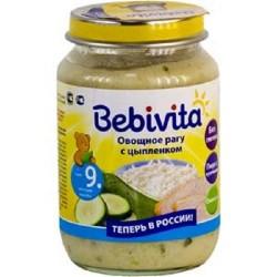 Пюре Bebivita Овощное рагу с цыпленком (с 9 мес.) 190 гр.