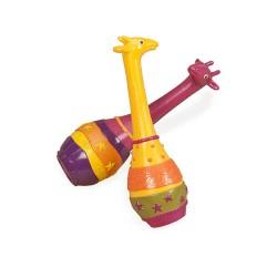 Музыкальная игрушка серии Джунгли - набор маракасов Два Жирафа Battat BX1251GTZ