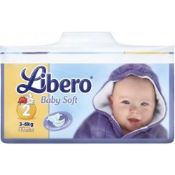 Подгузники Libero Baby Soft Mini 2 (3-6 кг) 44 шт.