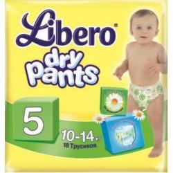 Подгузники Libero Dry Pants 5 (10-14 кг) 18 шт. трусики