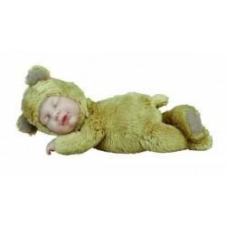 Кукла-мишка бежевый, спящий Anne Geddes 579103-AG