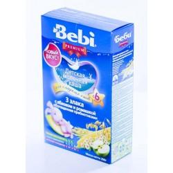 Каша молочная Bebi 3 злака с яблоком и ромашкой (c 6 мес) 200 гр.
