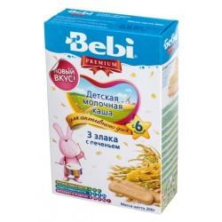 Каша молочная Bebi 3 злака с печеньем (с 6 мес.) 200 гр.