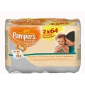 Cалфетки  Pampers Naturally Clean Duo 2X64