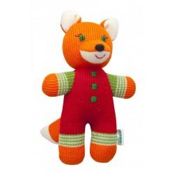 Вязаная игрушка Лисенок Никитка красный Фрея