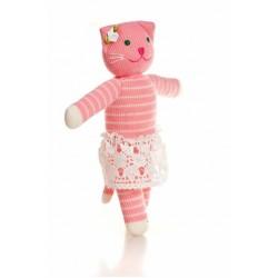 Вязаная игрушка Кошка Алиса Фрея