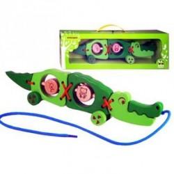 Паровозик-каталка Крокодил Зеленая игрушка 51735