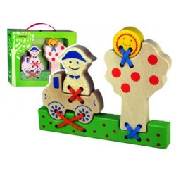 Шнуровка Ферма Зеленая игрушка