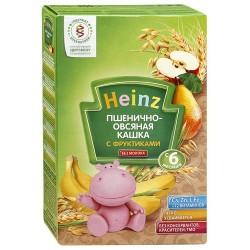 Каша безмолочная Heinz пшенично-овсяная с фруктами (с 6 мес.) 200 гр.