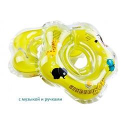 Круг для купания на шею Zoo музыкальный с ручками Kinderenok Zoo