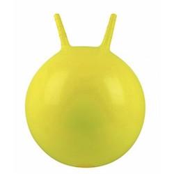 Детский мяч для фитнеса с рожками (фитбол) Profi 45 см MS 0380 желтый