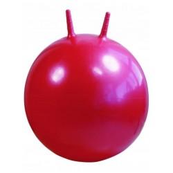 Детский мяч для фитнеса с рожками (фитбол) Profi 45 см MS 0380 красно-розовый