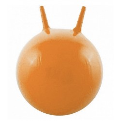 Детский мяч для фитнеса с рожками (фитбол) Profi 45 см MS 0380 оранжевый