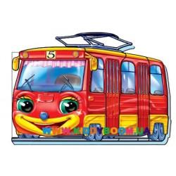 """Книга """"Кумедні машинки: Трамвай"""" укр. Ранок М324014У"""