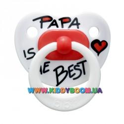 Пустышка bibi Papa is the best 12-36 мес.