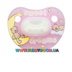 Пустышка bibi Sweet Dreams pink 0-6 мес.