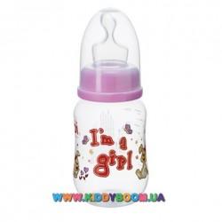 Бутылочка bibi I'm a girl PP 125 мл.