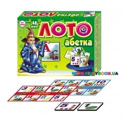 Игра Детское лото украинская азбука Технок 0366