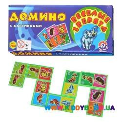 Игра Детское домино Веселые зверята Технок 0762