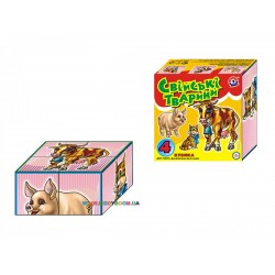 Кубики Домашние животные Технок 1837
