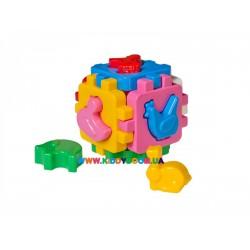 """Развивающая игрушка Куб """"Умный малыш: Домашние животные"""" Технок 1943"""