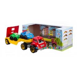 Автовоз с набором машинок Технок 3909