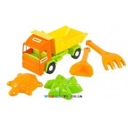 Грузовик Mini truck с набором для песка Тигрес 5 элементов 39157