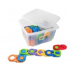 Игрушка-пазл Детское домино (64 эл.) в контейнере Тигрес 39551