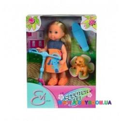 Кукольный набор Эви Веселые развлечения с собачкой, самокатом и скейтом Steffi &Evi 5732295