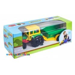 Трактор с прицепом в коробке Тигрес 39009