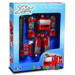 Робот-трансформер X-Bot Пожарная машина (15,5 см) Happy Well 80040R