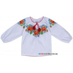 Блуза-вышиванка для девочки р-р 98-146 Valeri Tex 1660-20-311