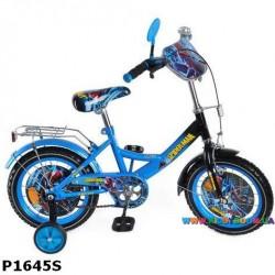 Детский велосипед  16 дюймов Spiderman P1645S-1