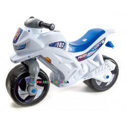 Мотоцикл велобег Полиция бело-синий Orion Toys 501