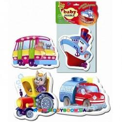 Мягкие пазлы Машины-помощники VladiToys VT1106-08