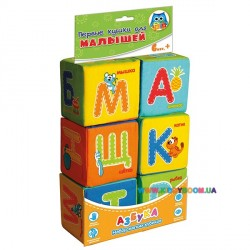 Набор кубиков Малышок Азбука русский язык Vladi Toys VT1401-01