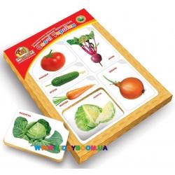 Рамки-вкладыши с подслоем Монтессори Овощи Вундеркинд РВ-053