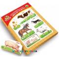 Рамки-вкладыши с подслоем Монтессори Домашние животные Вундеркинд РВ-054